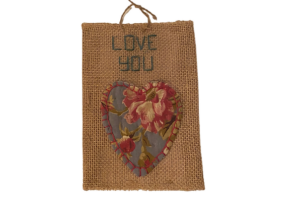 Embroidered Postcards. Love 1