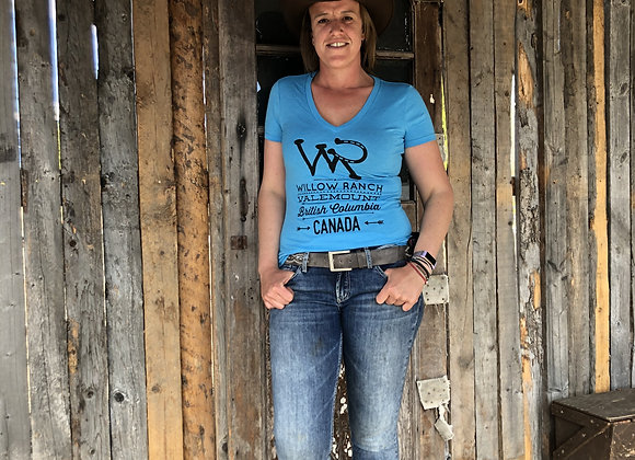 Willow Ranch Ladies shirt blue