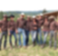 Cowboys and Cowgirls ready for a ranch nigh