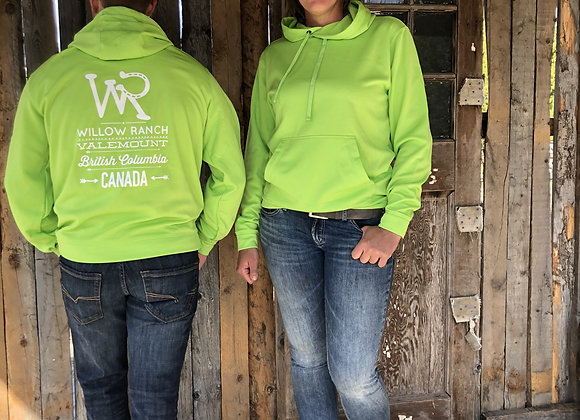 Willow Ranch Hoodie neon green
