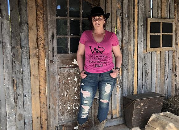 Willow Ranch Ladies shirt pink