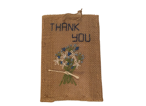Embroidered Postcards. Thank you 4