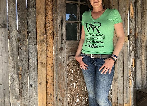 Willow Ranch Ladies shirt green
