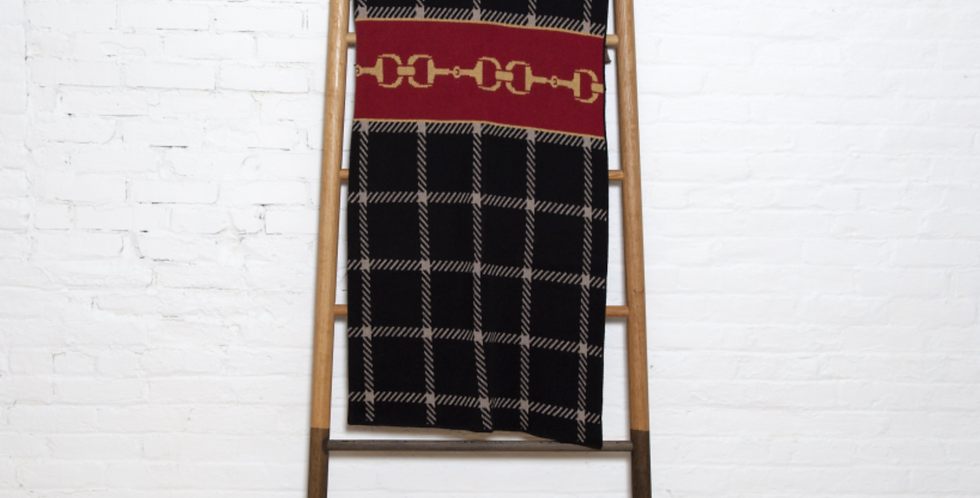 Eco Horse Bit Plaid Throw