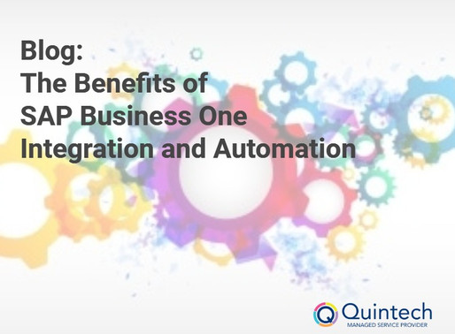 The Benefits of SAP Business One Integration and Automation