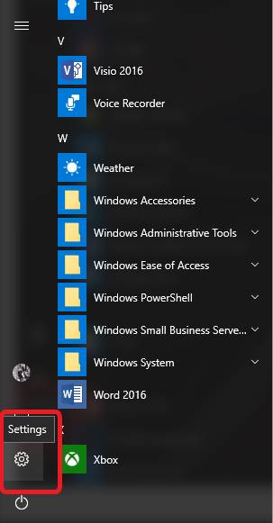 How to check for Windows 10 updates step 1