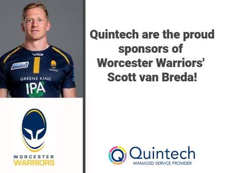 We are officially the very proud sponsor of Worcester Warriors' Scott van Breda!