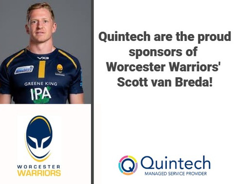 We are officially the very proud sponsor of Worcester Warriors' Scott van Breda!