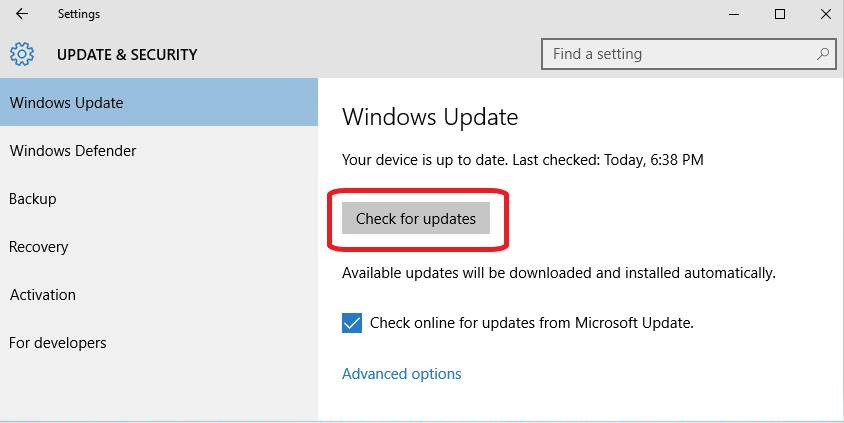 How to check for Windows 10 updates step 3