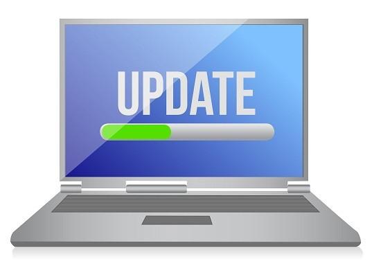 Computer update screen