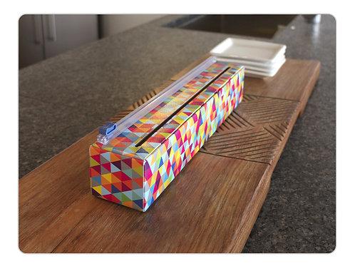 Triangles Plastic Wrap Dispenser