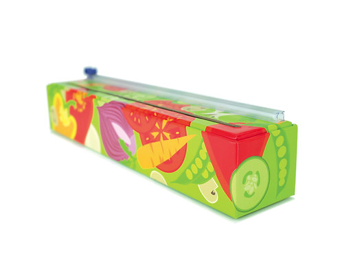 Case of 12 - Veggies Plastic Wrap Dispenser