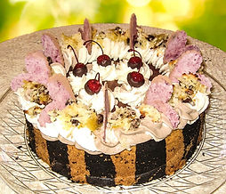 Cherry Chocolate Macaroon Cheesecake - 1