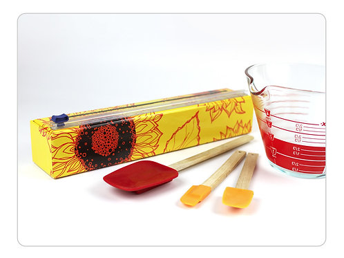 Sunflowers Plastic Wrap Dispenser