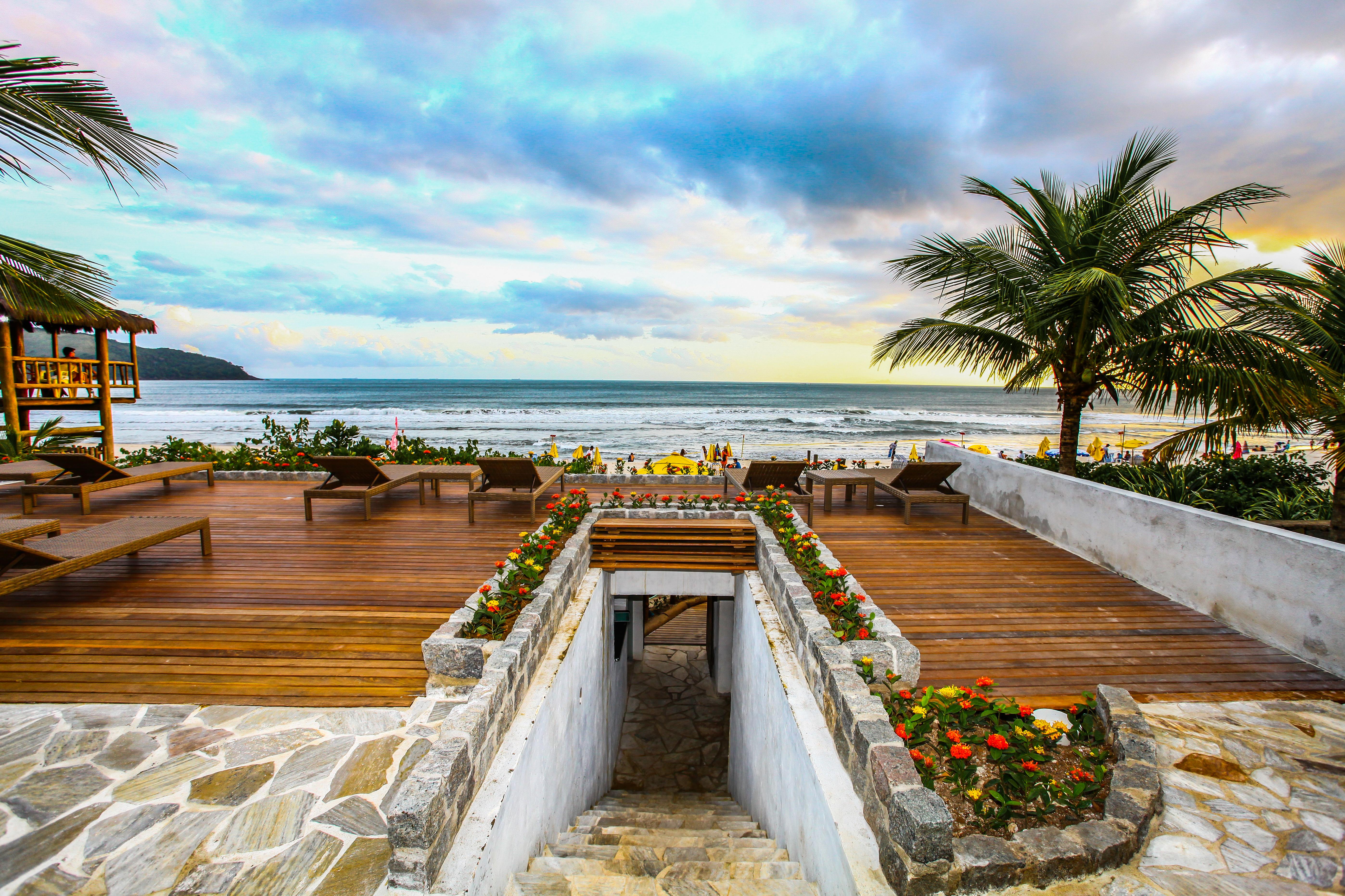 Escada para praia