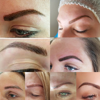 Powder brows, Ombré brows, combination brows and microbladed brows