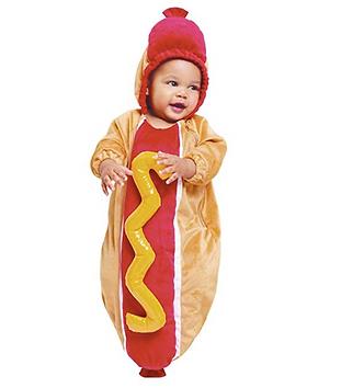 Hot Dog Baby Bunting Halloween Costume