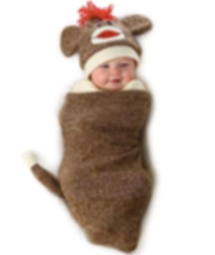 Sock Monkey Baby Bunting Halloween Costume