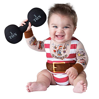 Silly Buff Strongman Baby Halloween Costume