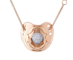 Pink Gold and Diamond Pacifier