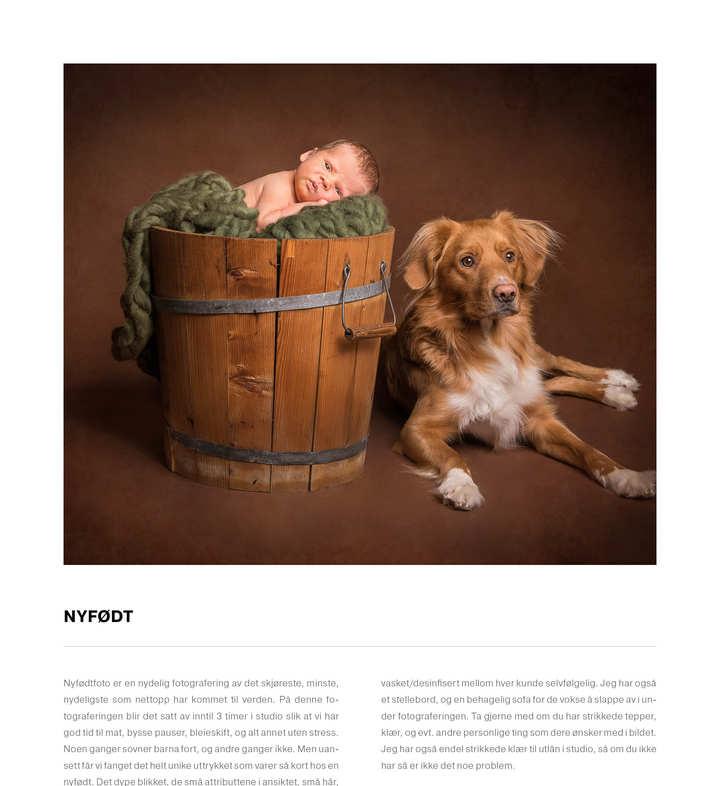 prisliste nyfødt