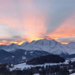 Massif du Mont-Blanc Rayons Oranges Foot
