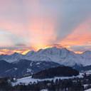 Uitzicht op het Mont-Blanc massief Webcam