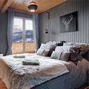 Uitzicht op het Mont-Blanc massief Antraciet Slaapkamer