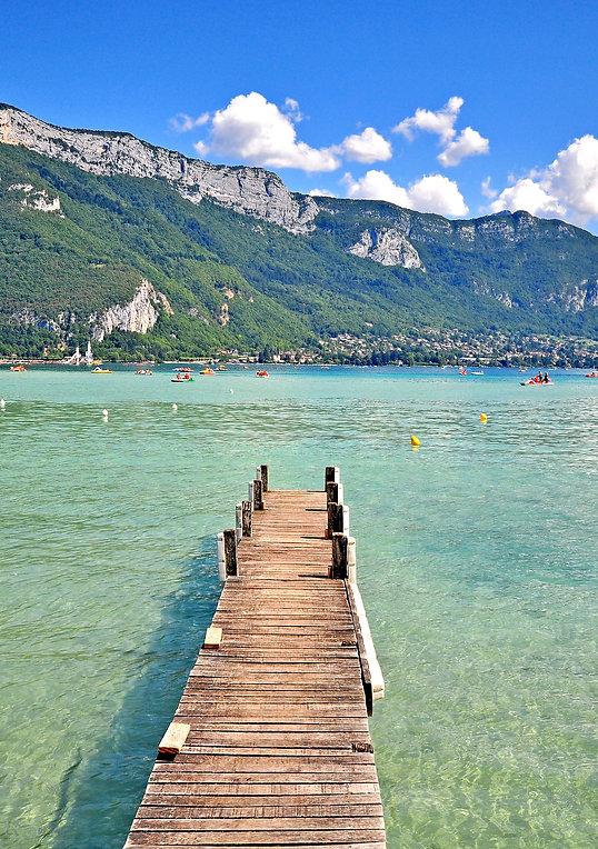 Baignade plages Lac d'Annecy Savoie location de vacances chalet les Cerises
