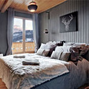 Huizenruil Haute-Savoie Antraciet Slaapkamer