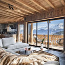 Balcon du Mont Blanc Baie Vitree Salon F