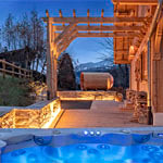 megeve web camera Jacuzzi Terrasse Sauna