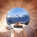 Uitzicht op het Mont-Blanc massief Sauna