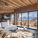 Louer chalet montagne Baie Vitree Salon