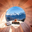 Webcam Cordon, Mont-Blanc Sauna-Balkon