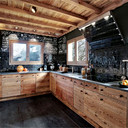 verhuur chalet bergen keuken