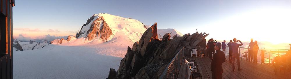 Aiguille du Midi, Alpes françaises, couché de soleil
