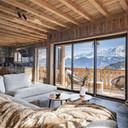 Uitzicht op het Mont-Blanc massief Huiskamer