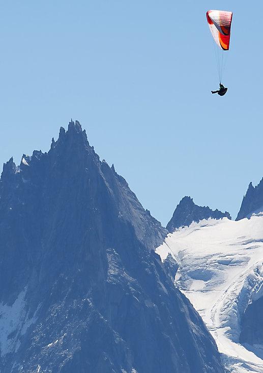 Parapente, location de vacances chalet les Cerises, Cordon, Megève Haute-Savoie (74)