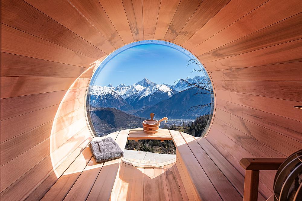 Massif du Mont-Blant, Sauna Privatif, Chalet les Cerises, Cordon le Balcon du Mont-Blanc