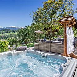 location chalet montagne Terrasse jacuzz