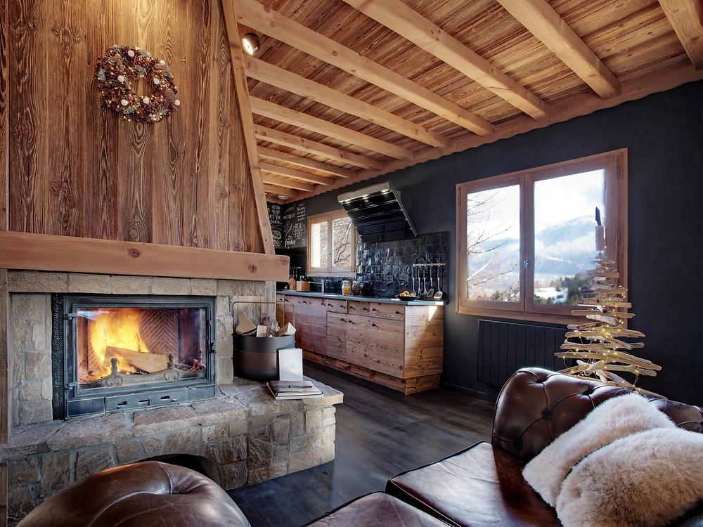 design decoration chalet luxe particulier à louer haute Savoie Cordon Megeve