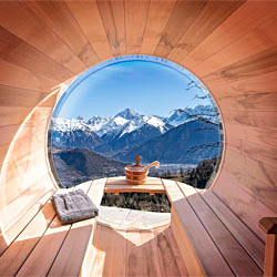location chalet montagne Sauna interieur