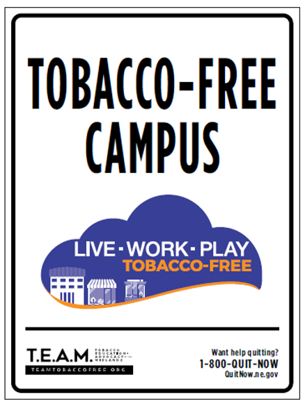12 x 9 Tobacco Free Campus Metal Sign