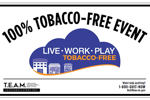 Tobacco Free Event Yard Signage