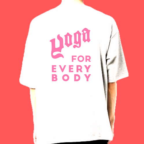 ロゴ ピンク/Mサイズ)LOGO ビッグシルエットt-shirts