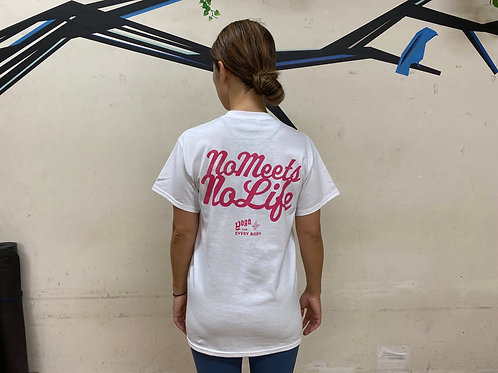 S size】NO MEETS NO LIFE Tシャツ / BP PNK