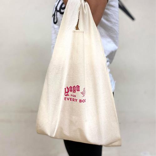 ピンク)logoマルシェバッグ(小)