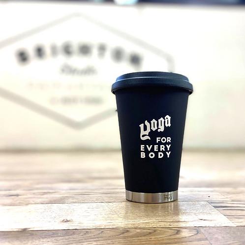 (黒) thermo mug x YOGA FOR EVERY BODYロゴMUG
