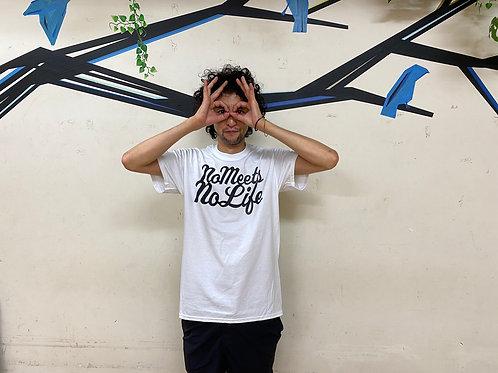 L size】NO MEETS NO LIFE  Tシャツ/ FP・WHT